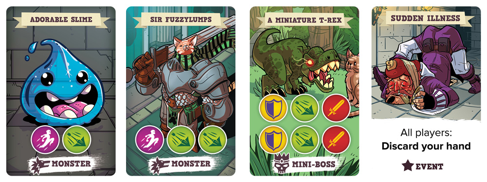 5 Minute Dungeon cards
