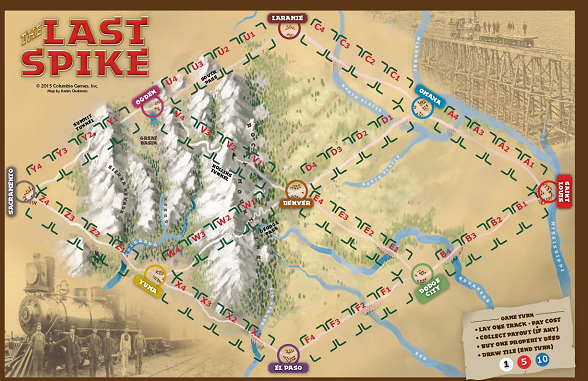 Game Board for The Last Spike