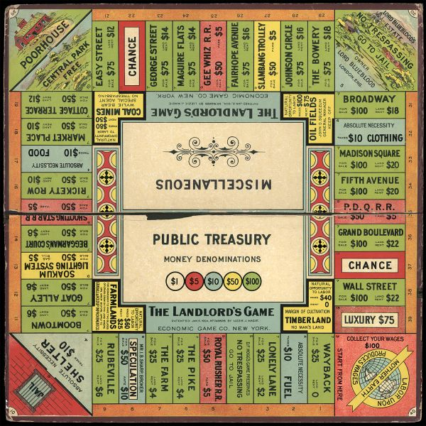 The True Origin Of Monopoly Lizzie Magie And The Landlords Game