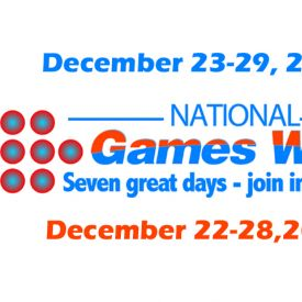 National Games Week 2012 - December 23-29. Gatherings. Games. Good Times.